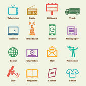 Advertising elements vector infographic icons