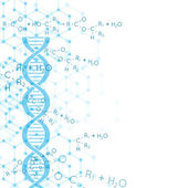 Abstract background with DNA strand molecule structure genetic and chemical compounds