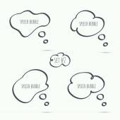 Set hand drawn speech bubble Vector Elements for text