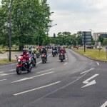 ������, ������: Berlin Germany May 28 2016: Motorcycle parade in Berlin against violance