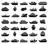 30 Ship and boat icon set Vector illustration