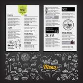 Food menu restaurant template design Flyer cafe Brochure vintage Cook idea