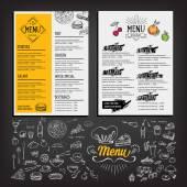 Restaurace café menu, šablony design