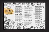 Cafe Menü Restaurant Broschüre