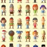 Постер, плакат: Characters avatar icons