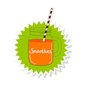 Fresh Smoothie Healthy Food Vector Illustration EPS10