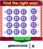 Visual Game for children Task: Find the right way at the stitches button
