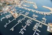 Luftbild von Limassol Marina, Zypern