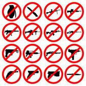 Vector Set - Weapon icons - Pistols Sub Machine Guns Assault Rifles Sniper Rifles LMGs Knives Grenades