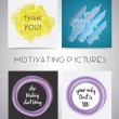 Постер, плакат: Set of Motivating pictures isolated on gray background