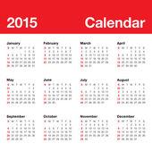 Simple calendar for 2015 year