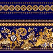 Striped seamless ethnic pattern. Paisley wallpaper