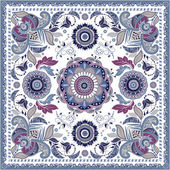Design for pocket shawl textile Paisley pattern
