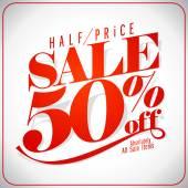 Nápis-výprodej 50 procent