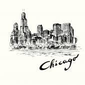 Chicago - illustrazione disegnata a mano
