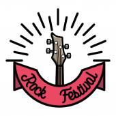 Színes vintage rock jelkép