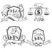 Set of Finance forex Labels Logo emblems and design elements Excellent vector illustration EPS 10