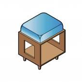 Krátké stolice židle vektor