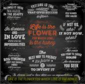Set of Quotes Typographical Posters Vector Design Motivational Quotes for Inspirational Art Chalkboard Background Chalk Design