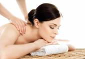 Young and healthy woman in spa salon