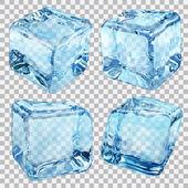 Transparentní modrá LED kostky