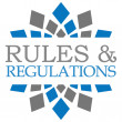 ������, ������: Rules And Regulations Blue Grey Circular