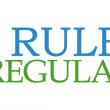 ������, ������: Rules And Regulations Green Blue Circular Horizontal