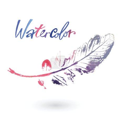 Постер, плакат: Watercolor natural leaf made in the original technique, холст на подрамнике