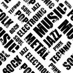 Постер, плакат: Background Of Music Genres