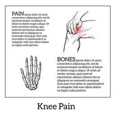 Painted knee pain Discomfort in a joint leg Symptoms of motor functions in humansTemplate medical bulletins Illustration of human hand bones Vector sketch illustration legs Hands hold the knee
