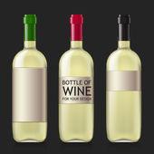 Stichprobe von leeren Flaschen für Wein