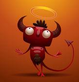 Little red devil pretending to be angel