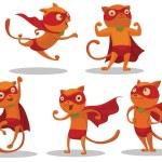 Постер, плакат: Set of Superhero Cats