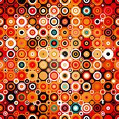 Abstract geometric pattern with dots and circles in disco style background texture wallpaper in warm colors