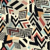 无缝向量的几何图案背景