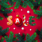 Christmas sale background promotional poster for Christmas sale vector illustration