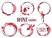 Akvarel víno skvrny ikony