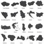 Landkarten der europäischen Länder