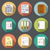 Documents icons with long shadow Vector EPS10 file