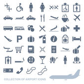 Vector image of a set of airport icons