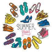Woman shoes set