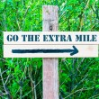 Постер, плакат: GO THE EXTRA MILE Directional sign