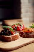 Bruschetta Vorspeise mit Gemüse