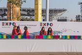 Hostessen auf der Expo 2015 in Mailand, Italien