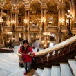 Постер, плакат: PARIS FRANCE MAY 3 2016: people taking pictures at opera paris
