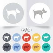Ikona podepsat pes. domácí zvířata symbol