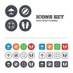 Постер, плакат: Beach holidays icons