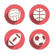 Постер, плакат: Sport balls Volleyball Basketball Soccer