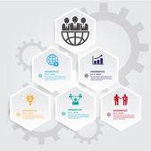 Šablona pro moderní podnikání skupiny šestiúhelníky