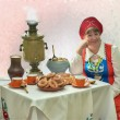 Постер, плакат: At an old samovar 3